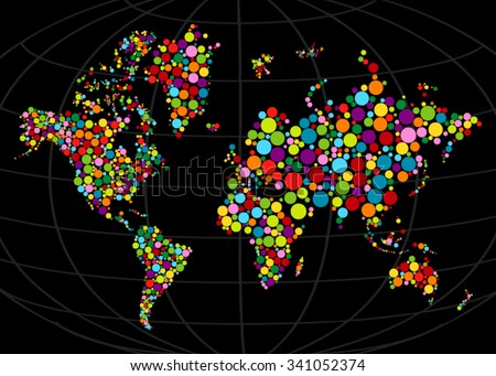 Free vector mosaic world map download free vector art stock multi colored mosaic world map painted with color circleabstract polygonal geometric design map gumiabroncs Choice Image