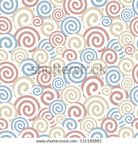 Multi-colored seamless pattern. Vector illustration