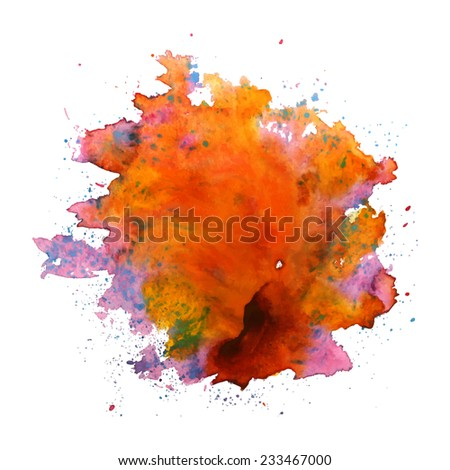 multi colored watercolor blot