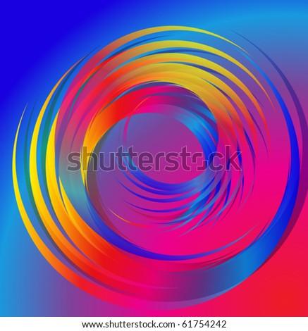 Multi-coloured spiral
