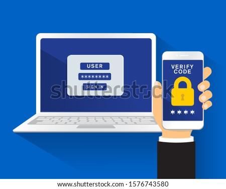 multi factor authentication security concept vector illustration