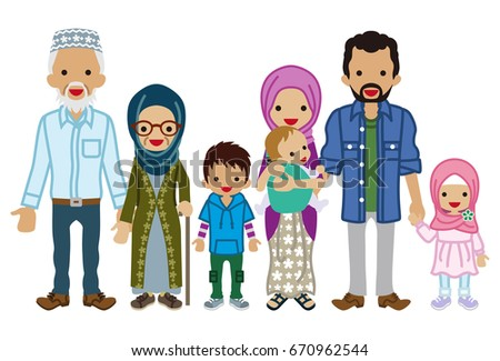 multi generation family   muslim