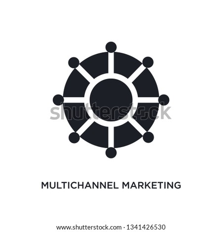 multichannel marketing isolated icon. simple element illustration from technology concept icons. multichannel marketing editable logo sign symbol design on white background. can be use for web and