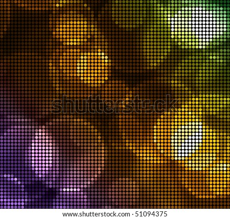 Multicolor Blurry Dots Background - stock vector