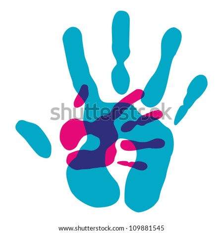 Multicolor creative diversity hands background. Vector illustration layered for easy manipulation and custom coloring.