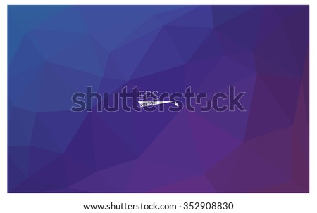 multicolor dark pink, blue geometric rumpled triangular low poly origami style gradient illustration graphic background. Vector polygonal design for your business. - Shutterstock ID 352908830
