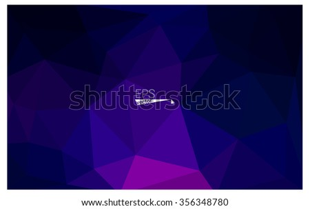multicolor dark pink, blue geometric rumpled triangular low poly origami style gradient illustration graphic background. Vector polygonal design for your business. - Shutterstock ID 356348780
