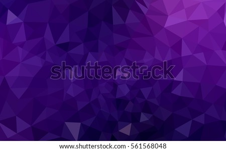 Multicolor dark purple, pink polygonal illustration, which consist of triangles. Geometric background in Origami style with gradient. Triangular design for your business. - Shutterstock ID 561568048