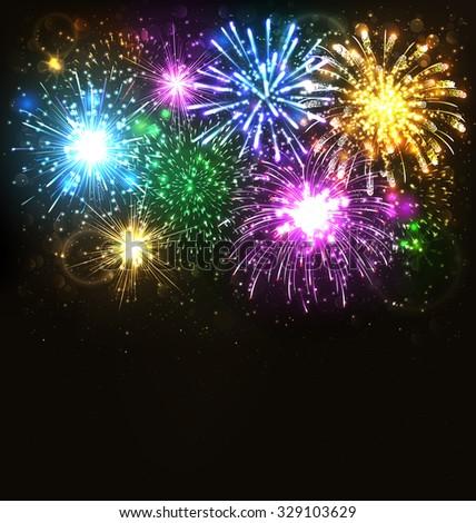 multicolor festive firework