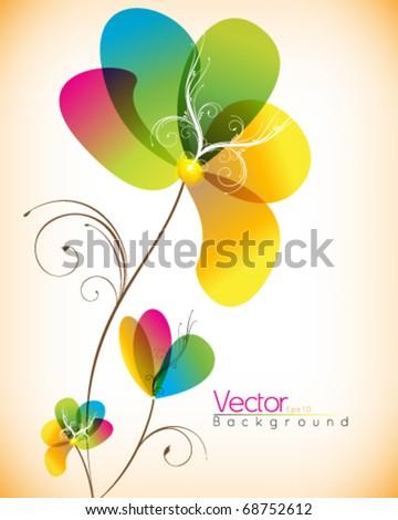 multicolor flower design
