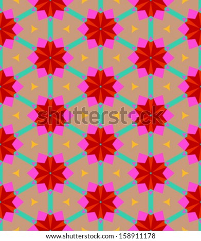 Multicolor geometric pattern in bright color. Vector seamless texture for web, print, wallpaper, home decor, textile, Christmas gift wrapping paper, spring summer fashion fabric, invitation background