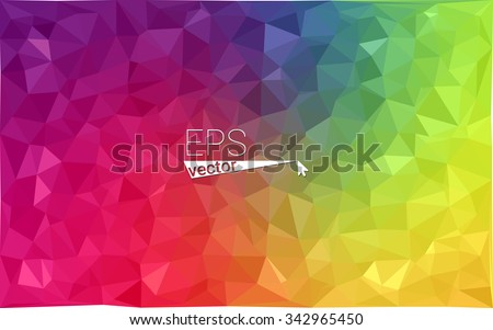 multicolor geometric rumpled