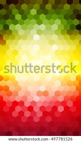 multicolor hexagon vector pattern. for design