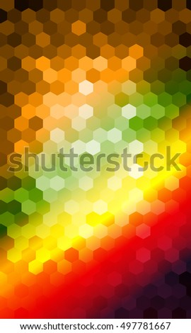 multicolor hexagon vector pattern. for design