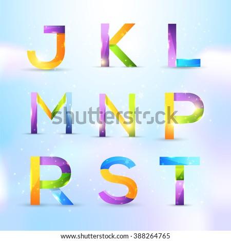 Multicolor Letter Symbols Vector Design. Graphic Icons, Logo, Sign Template Set Stock fotó ©
