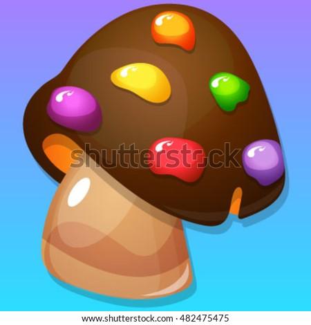 multicolor mushroom item for