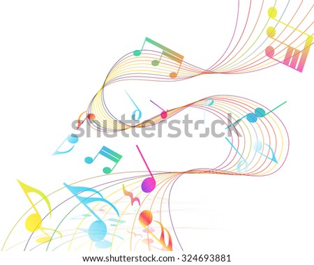 multicolor musical design from