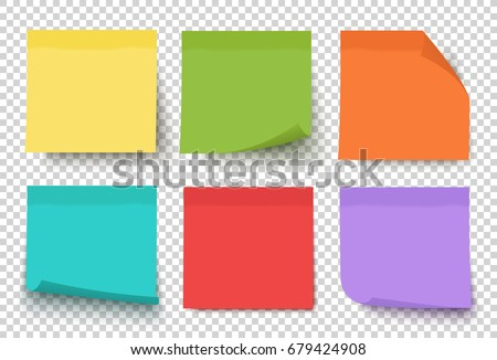 multicolor notes isolated on
