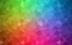 Multicolor polygonal illustration, which consist of triangles. Geometric background in Origami style with gradient. Triangular design for your business. Rainbow, spectrum image.