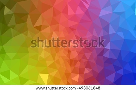 multicolor polygonal