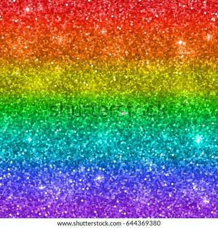 multicolor rainbow glitter