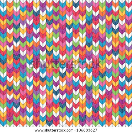 Multicolor seamless knitted background. EPS 8 vector illustration.