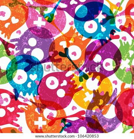 multicolor seamless pattern