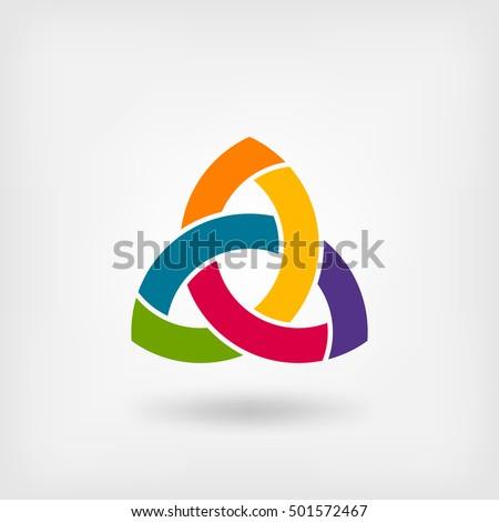 multicolor triquetra symbol