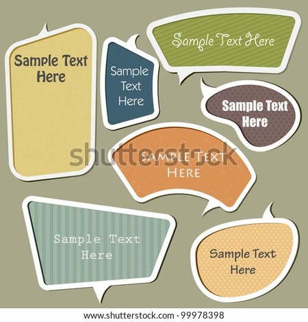 multicolor vector speech bubbles set