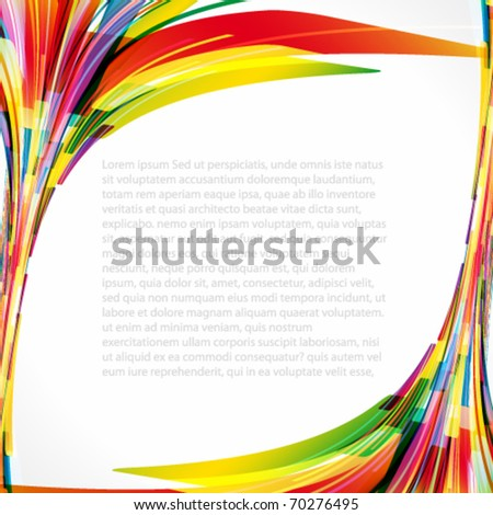 Multicolored background. Elements for design. Eps10.