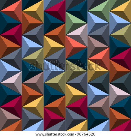 stock vector multicolored background from pyramids vector eps 98764520 - Каталог — Фотообои «3D Текстуры»