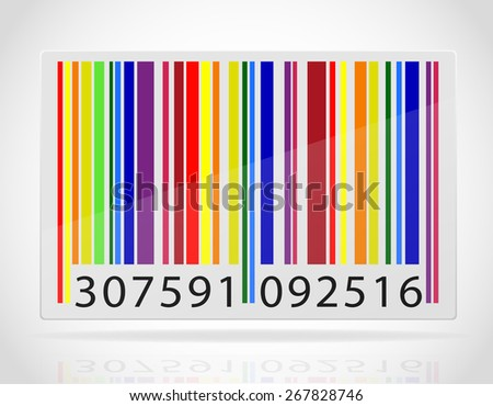 multicolored barcode vector