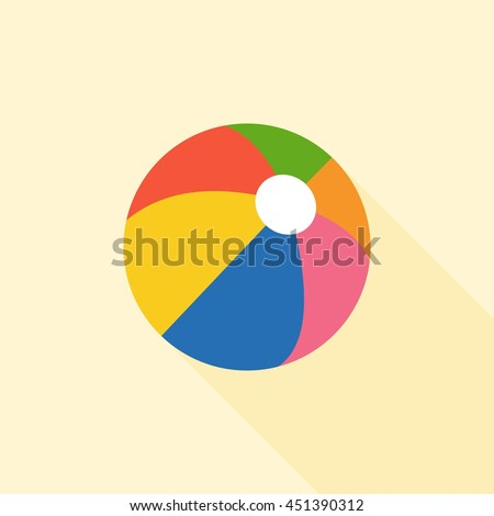 multicolored beach ball icon