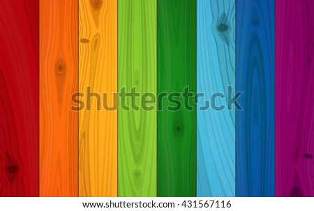 multicolored boards in colors