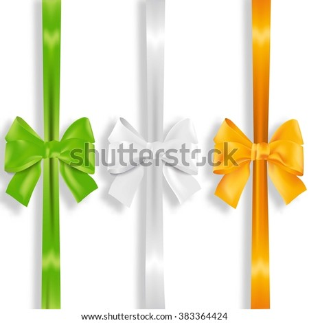 multicolored bows as ireland's