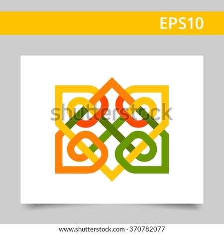 multicolored celtic ornament