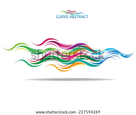 multicolored curve abstract