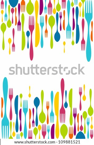 multicolored cutlery icons