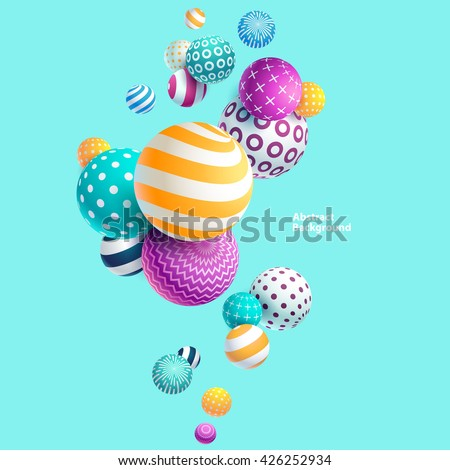 Stock Photo Multicolored decorative balls. Abstract vector illustration.