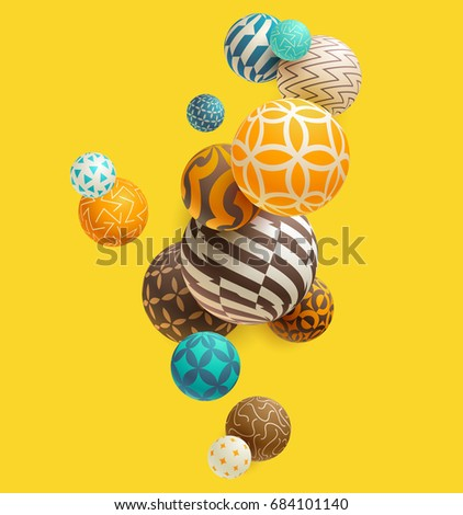 multicolored decorative balls