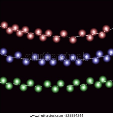 multicolored garland  christmas
