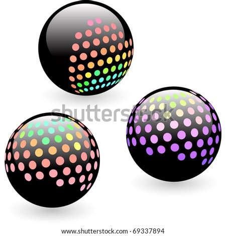 Multicolored globe illustration.