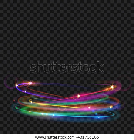 multicolored glowing fire rings