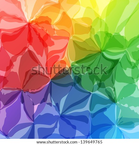 Multicolored Original Watercolor Painting Background, Vectors Eps10, Contains Transparent Objects