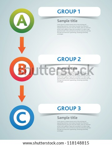 Multicolored presentation template with Circles directions and places for text