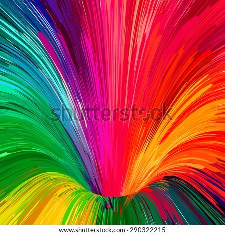 multicolored rainbow funnel