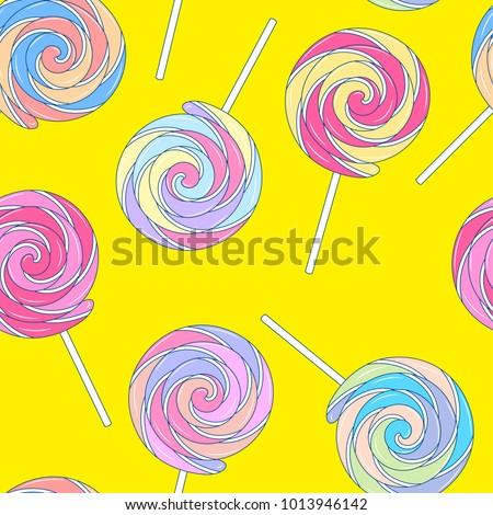 multicolored rainbow lollipops