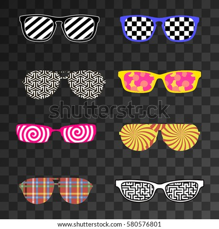 multicolored set of