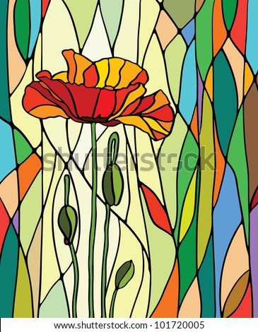 multicolored stained glass with