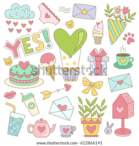 multicolored stickers for diary